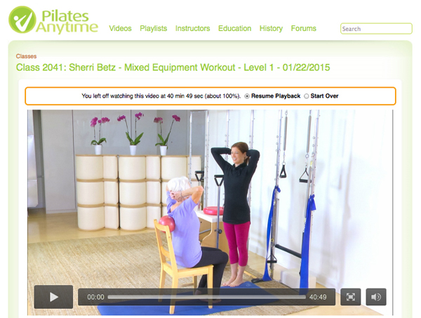 Pilates Anytime Screenshot